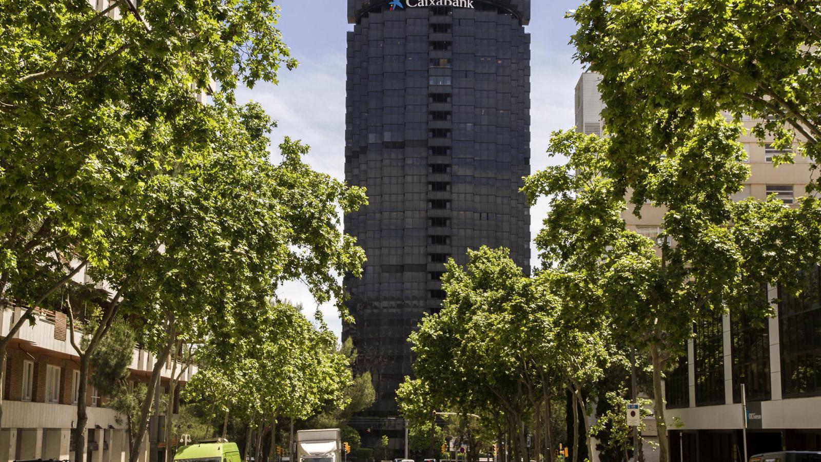 Les oficines de CaixaBank a l'avinguda Diagonal de Barcelona.