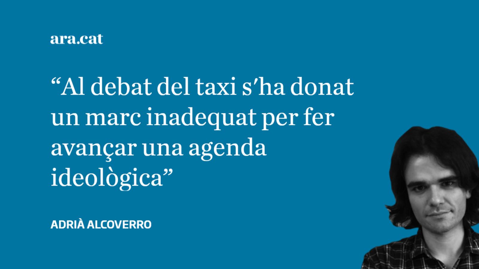 """El taxi i """"la llibertat de triar de l'usuari"""""""