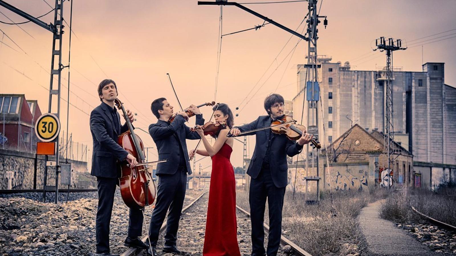 El Quartet Gerhard en una imatge promocional.