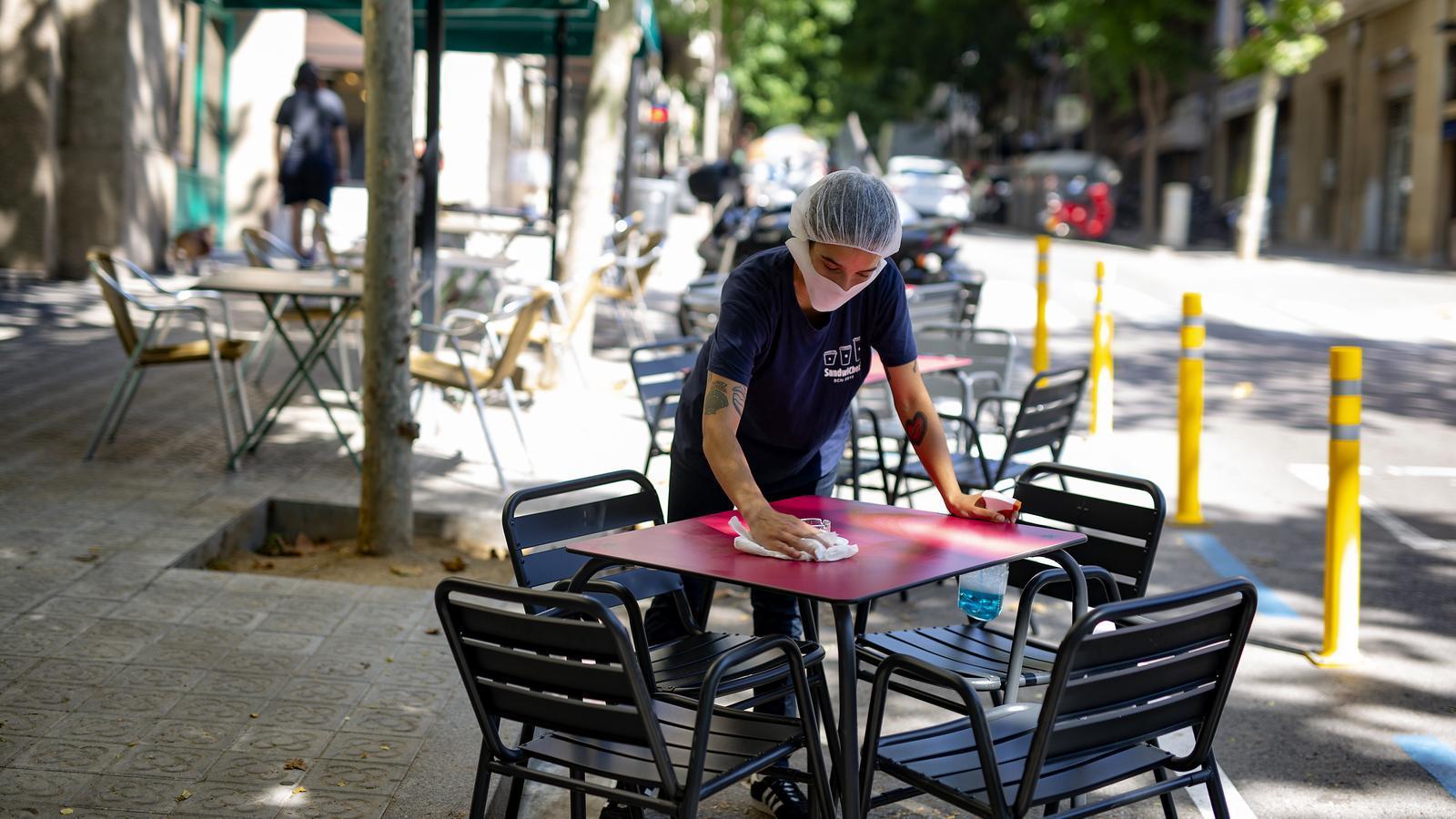Terrasses de Barcelona al carrer Amigó