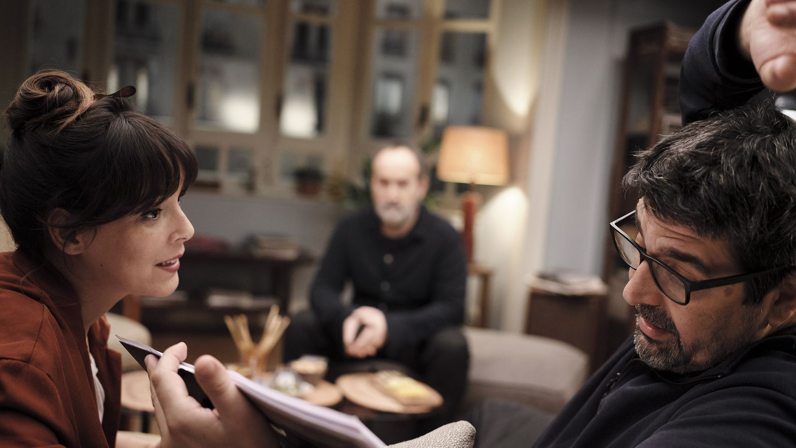 Cesc Gay amb Belén Cuesta durant el rodatge de 'Sentimental'