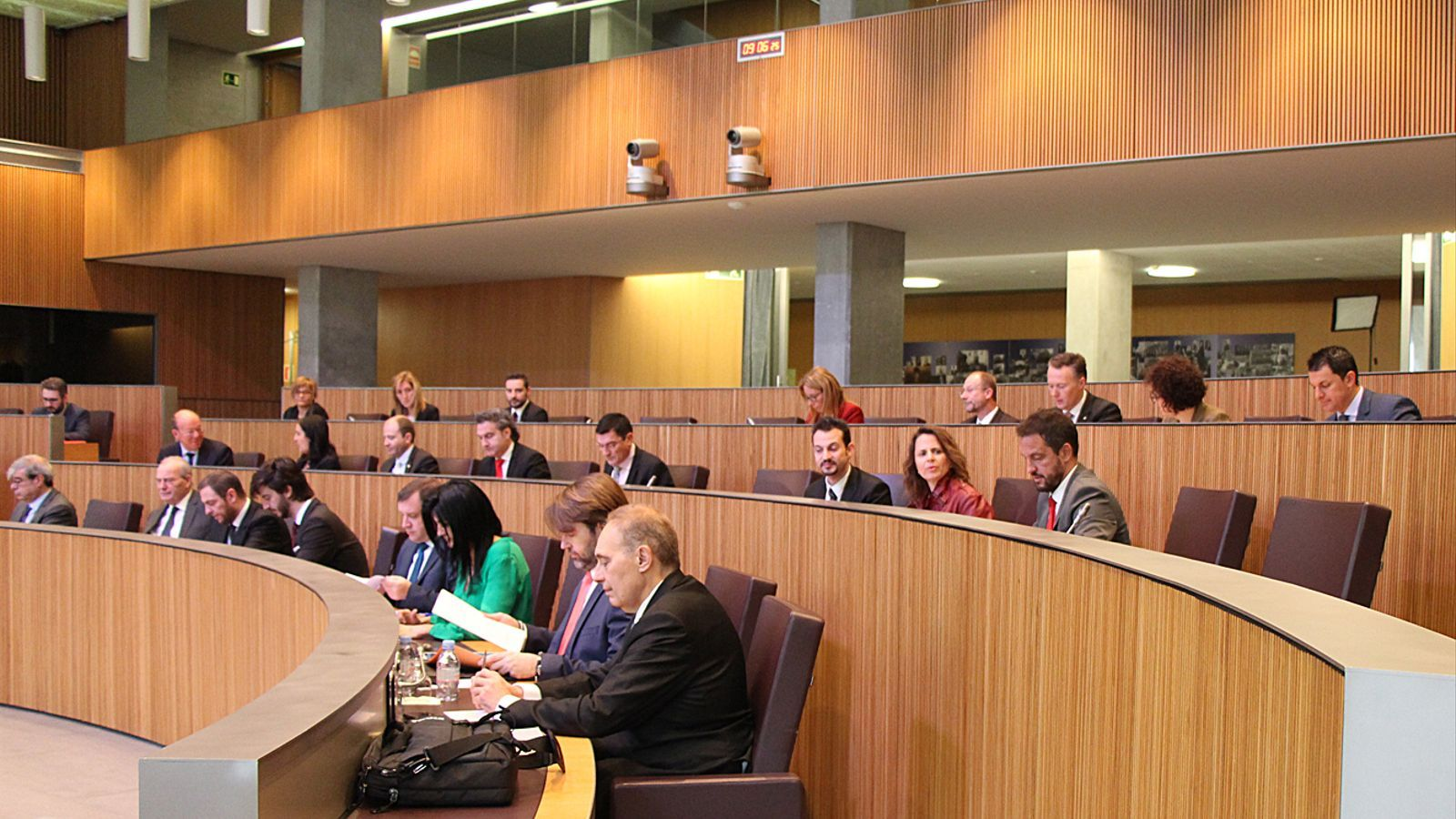Els consellers generals durant la sessió d'aquest dijous. / M. F. (ANA)