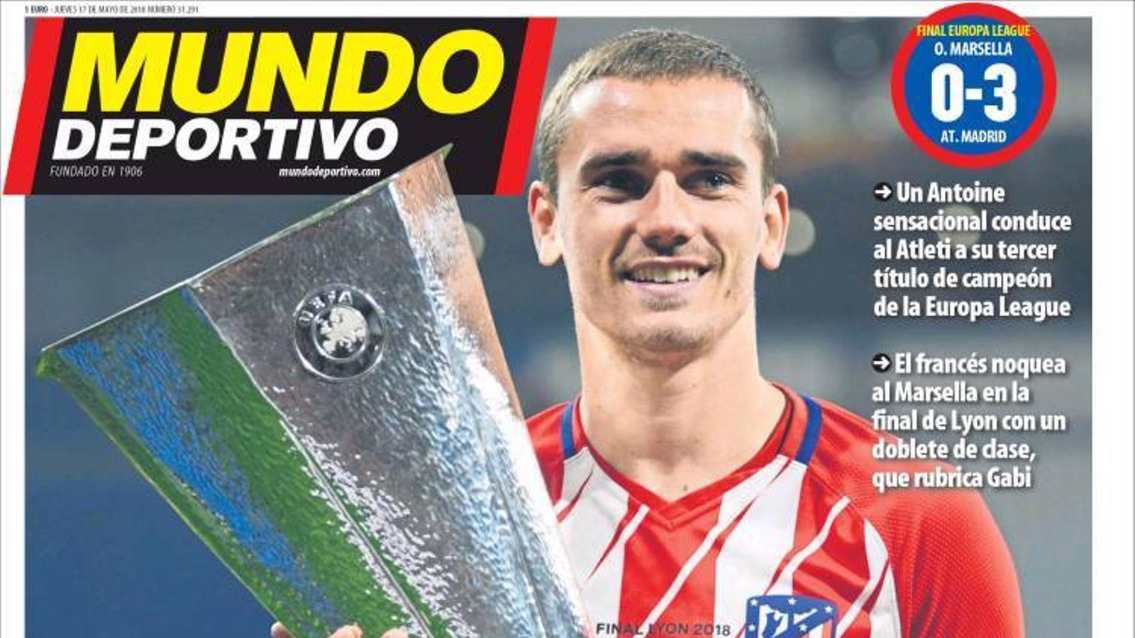 Portada 17 maig 2018 Mundo Deportivo