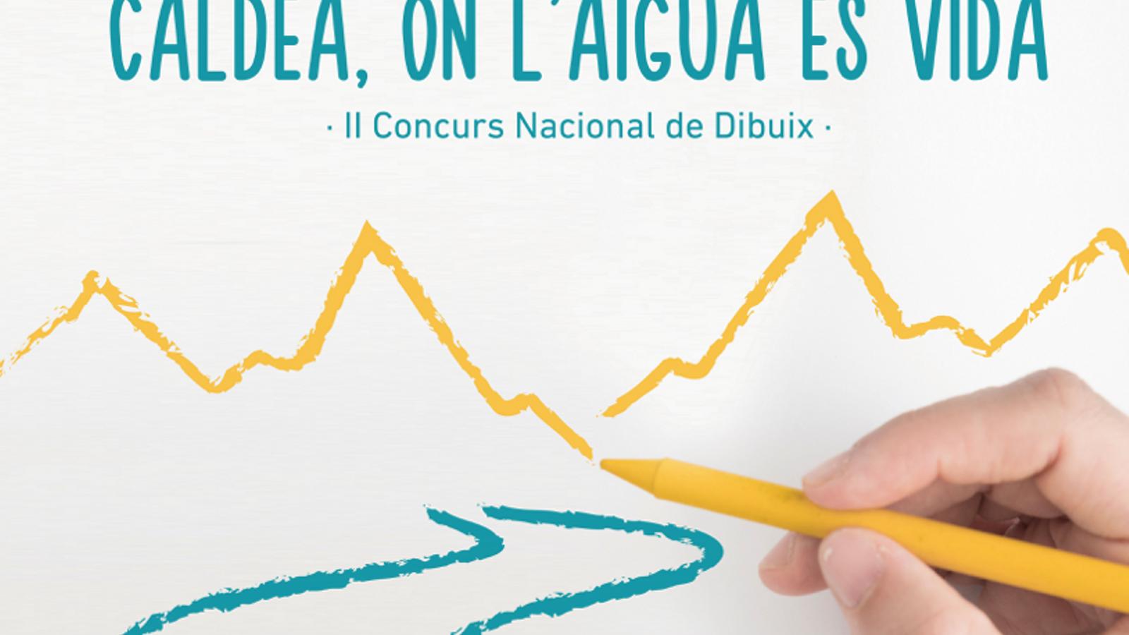 Cartell promocional del concurs de dibuix. / CALDEA