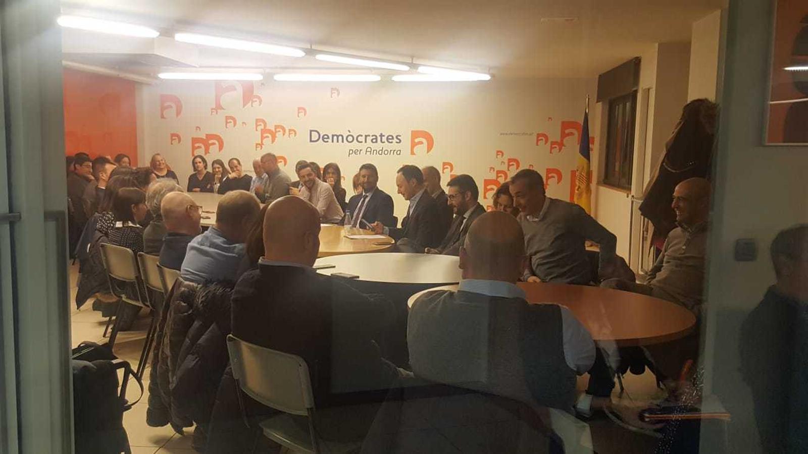 Reunió de l'executiva de DA aquest dimecres. / Demòcrates d'Andorra