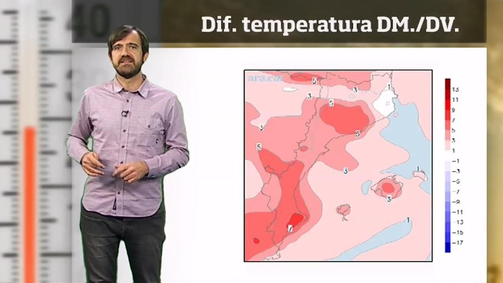 La méteo en 1 minut: una ponentada dispararà la temperatura els dies vinents