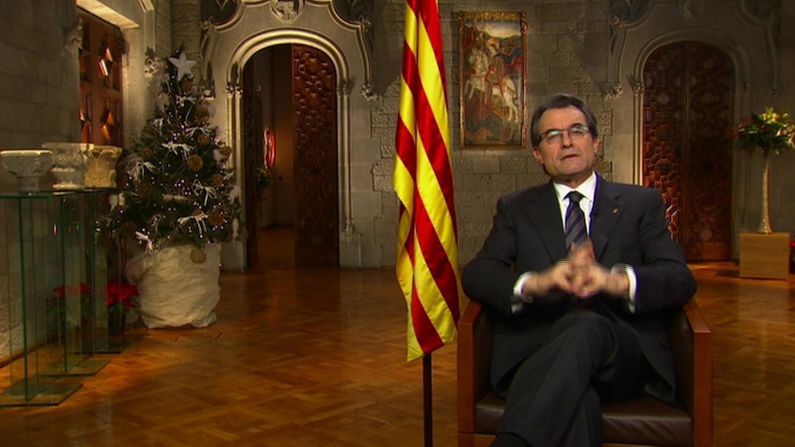 Discurs de Cap d'Any d'Artur Mas (2012)