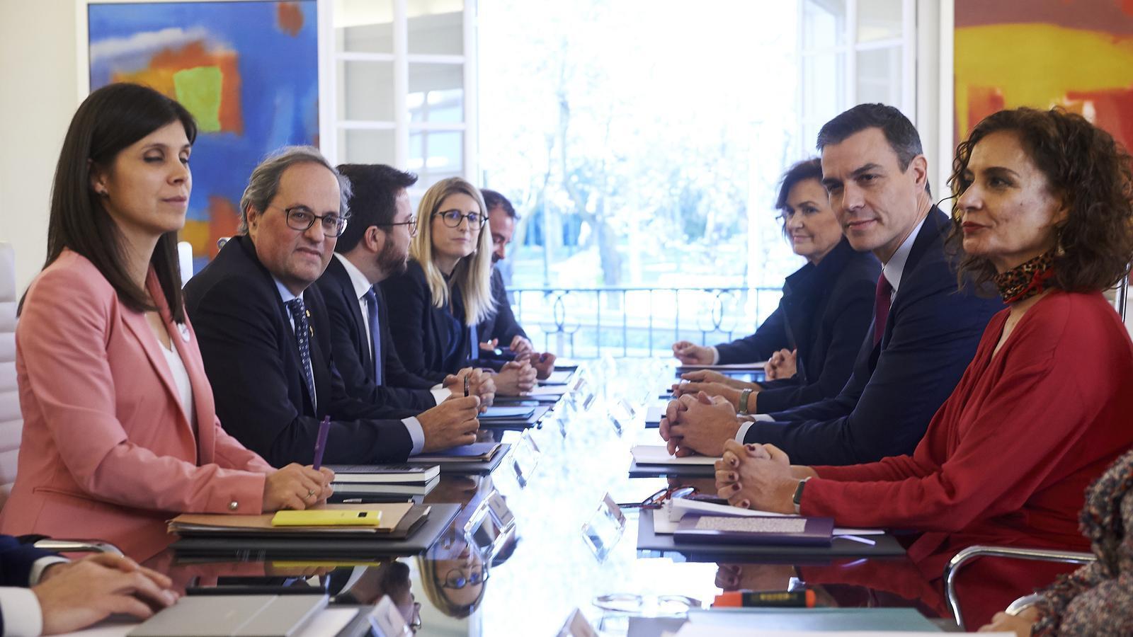Torra i Sánchez pacten reunir mensualment la taula de diàleg