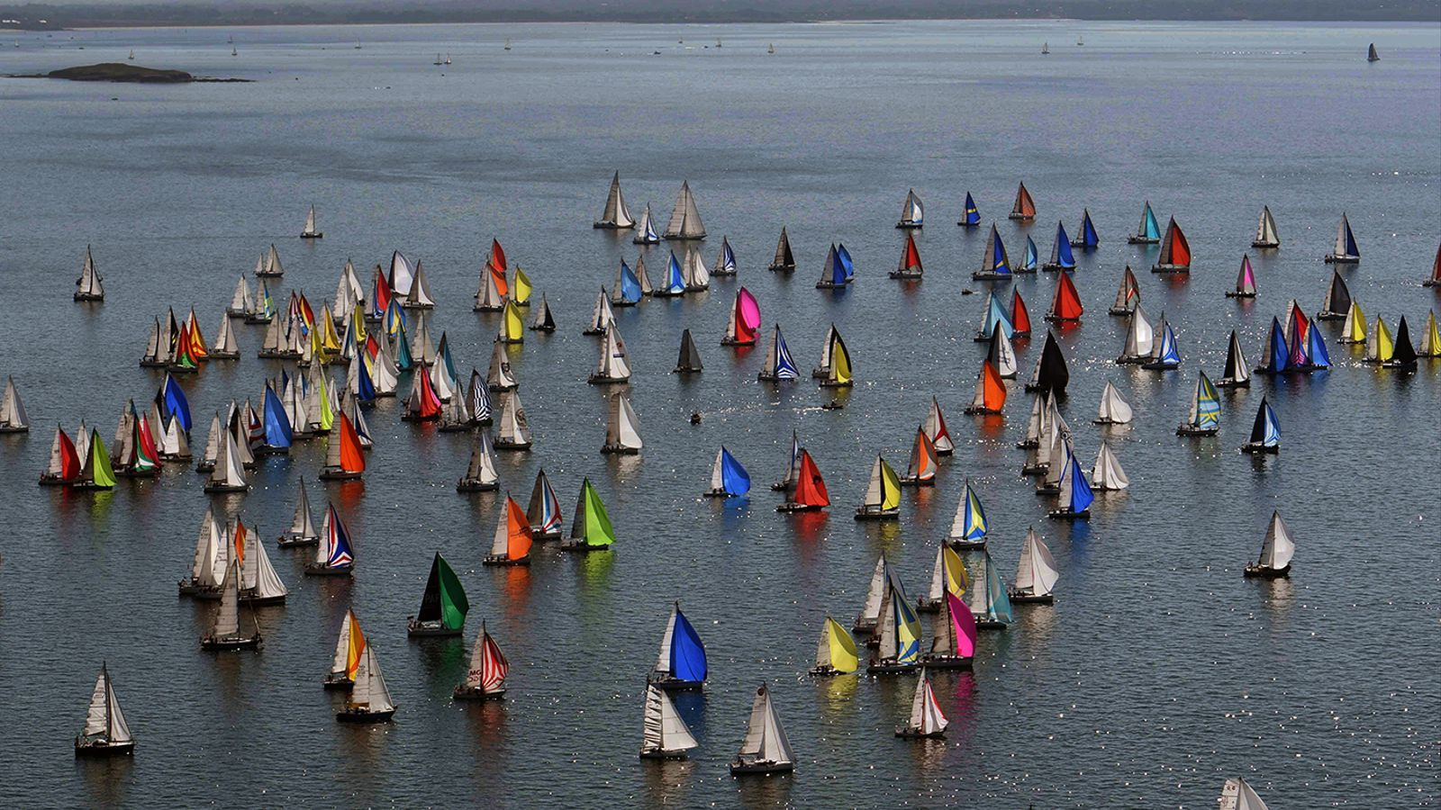 Sailing competition in La Trinité-sur-Mer, west of France