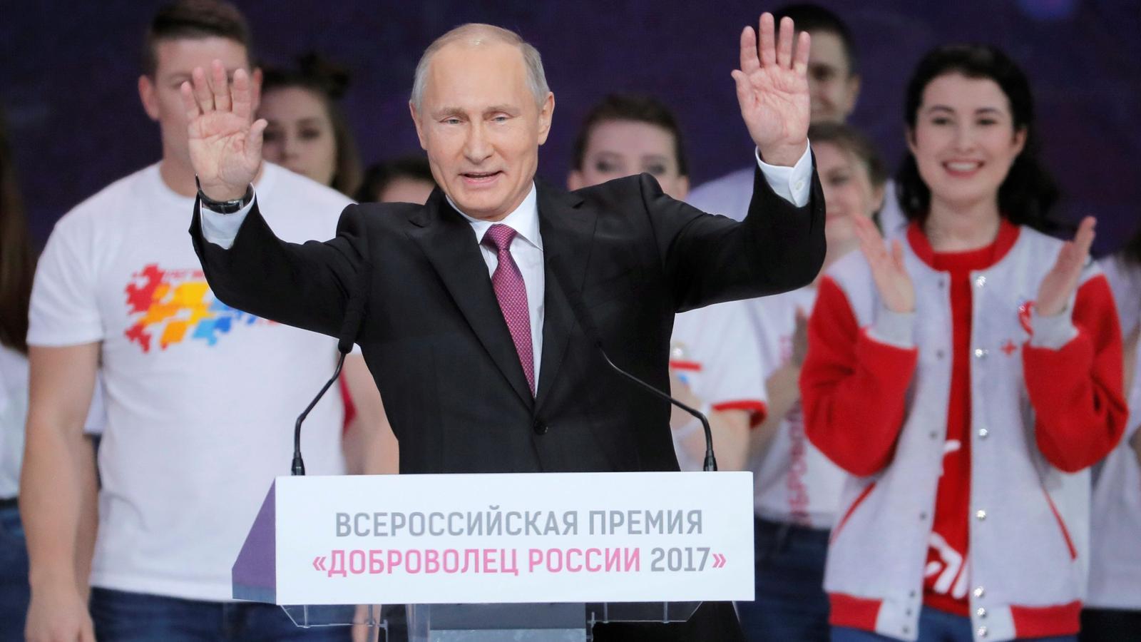 Putin avui en acte a Moscou