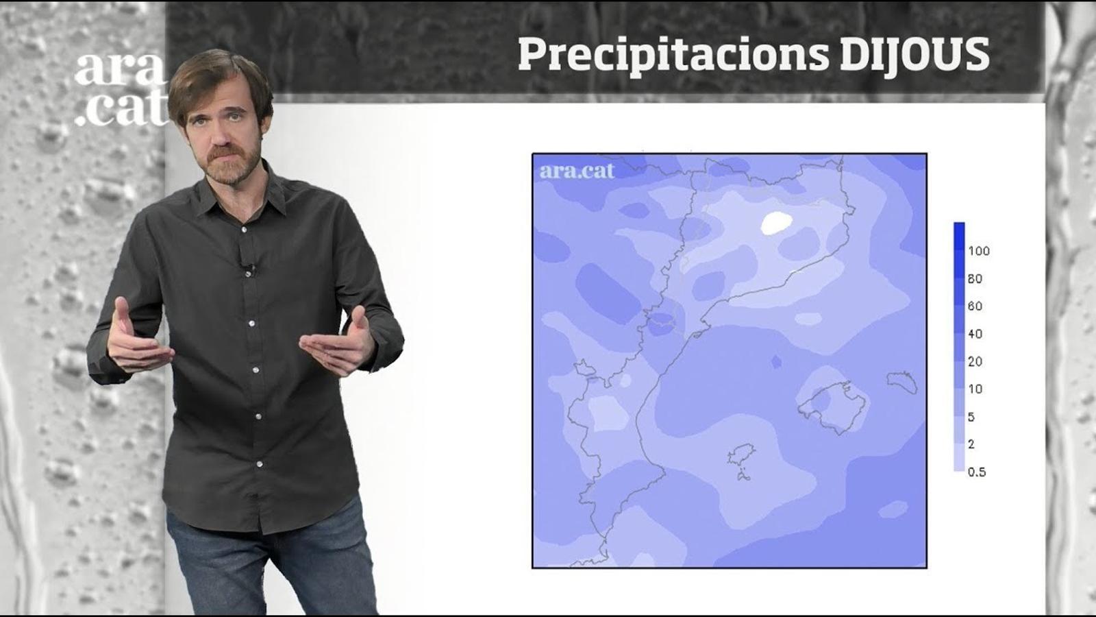 La méteo en 1 minut: dijous serà el dia amb més opcions de pluja de la setmana