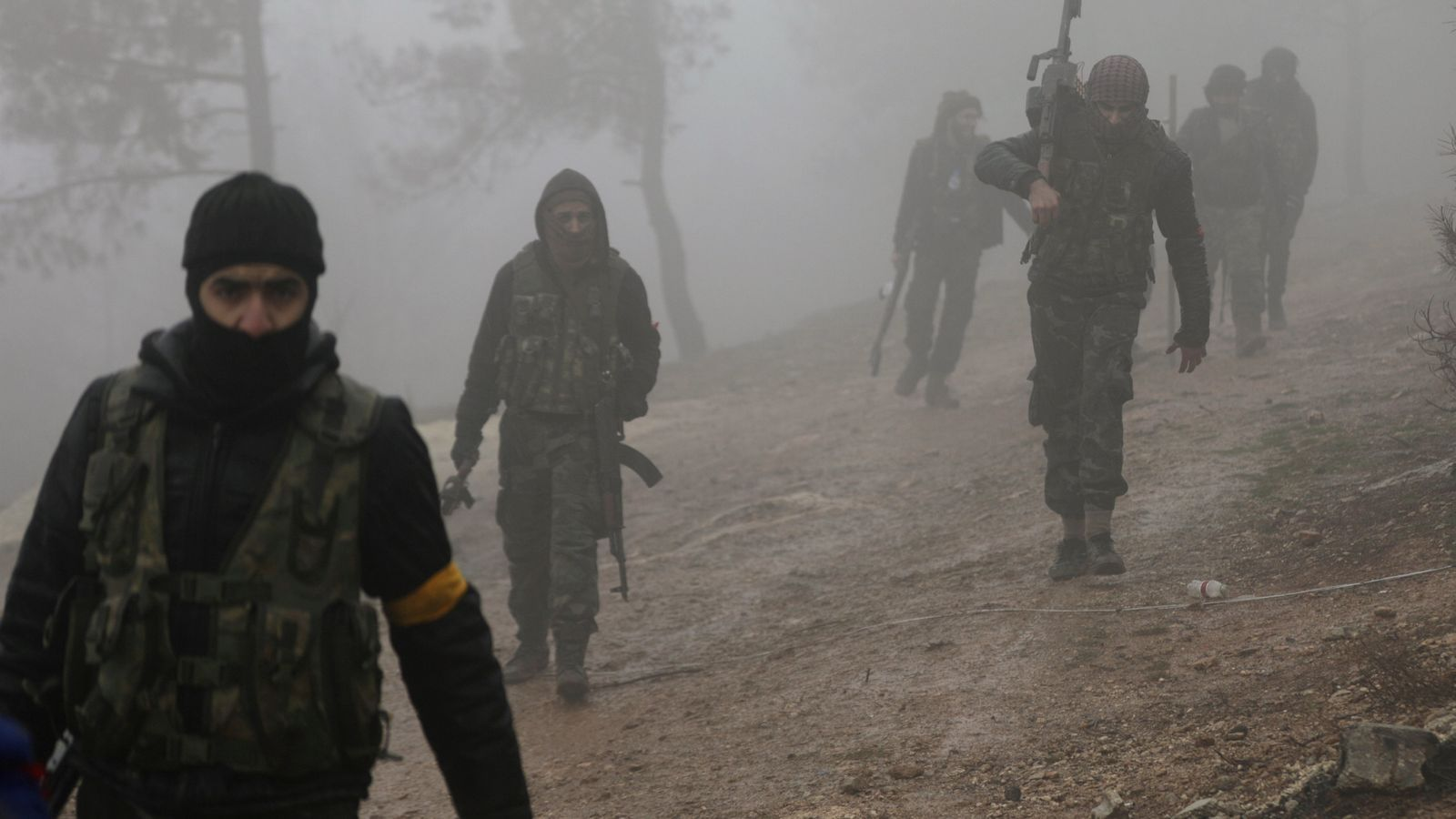 Combatents de l'ofensiva turca en una zona d'Afrin.