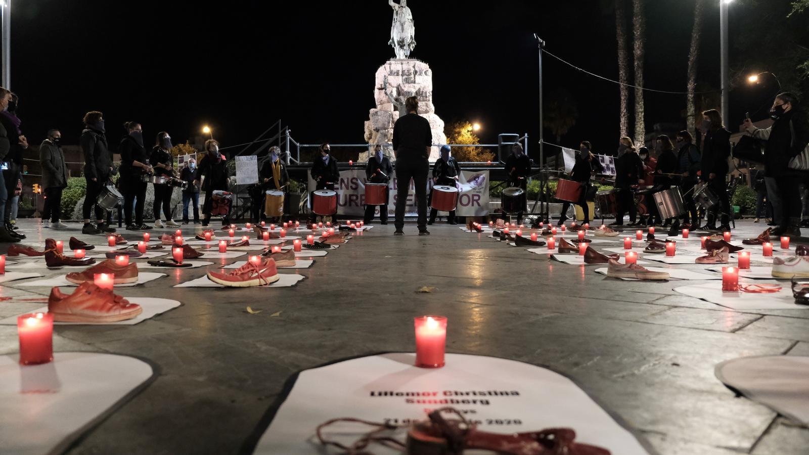 Concentració pel 25N a Palma convocat pel Moviment Feminista de Mallorca
