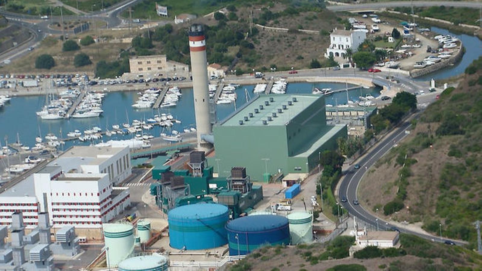 Central elèctrica de Cas Tresorer, a Maó. / GOB MENORCA