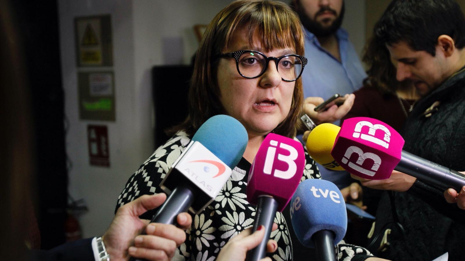 La coordinadora de MÉS per Mallorca, Bel Busquets, aquest dimecres.