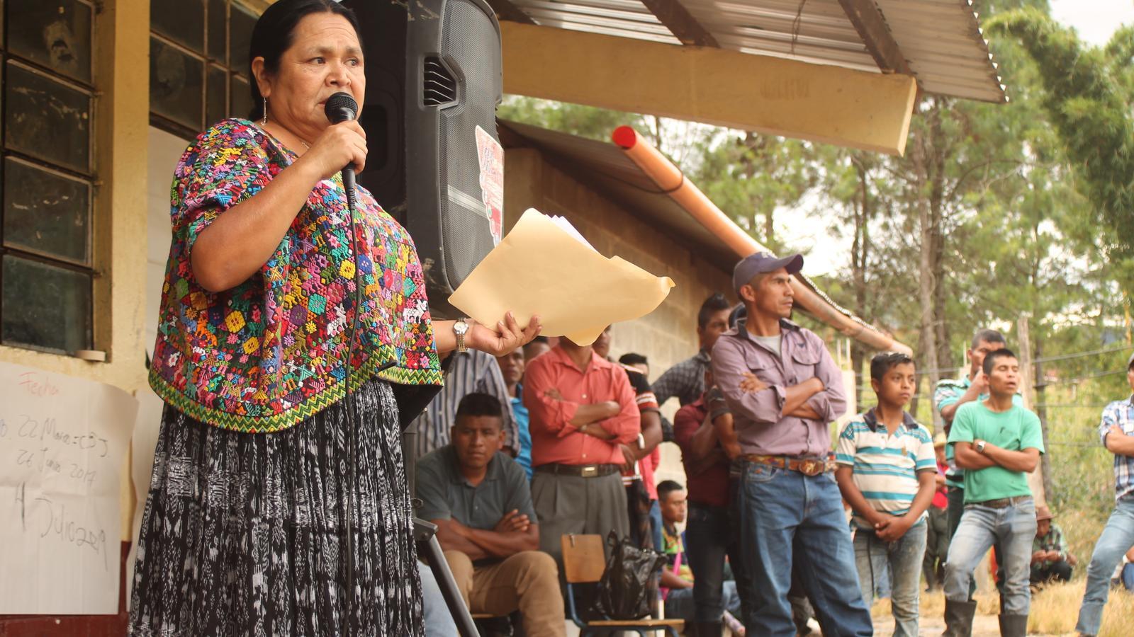 La líder indígena Ana Rutilia.
