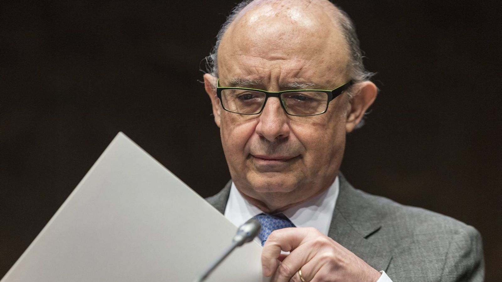 Cristóbal Montoro, ministre d'Hisenda, aquest any no ha rebaixat l'interès que paguen les comunitats al FLA.