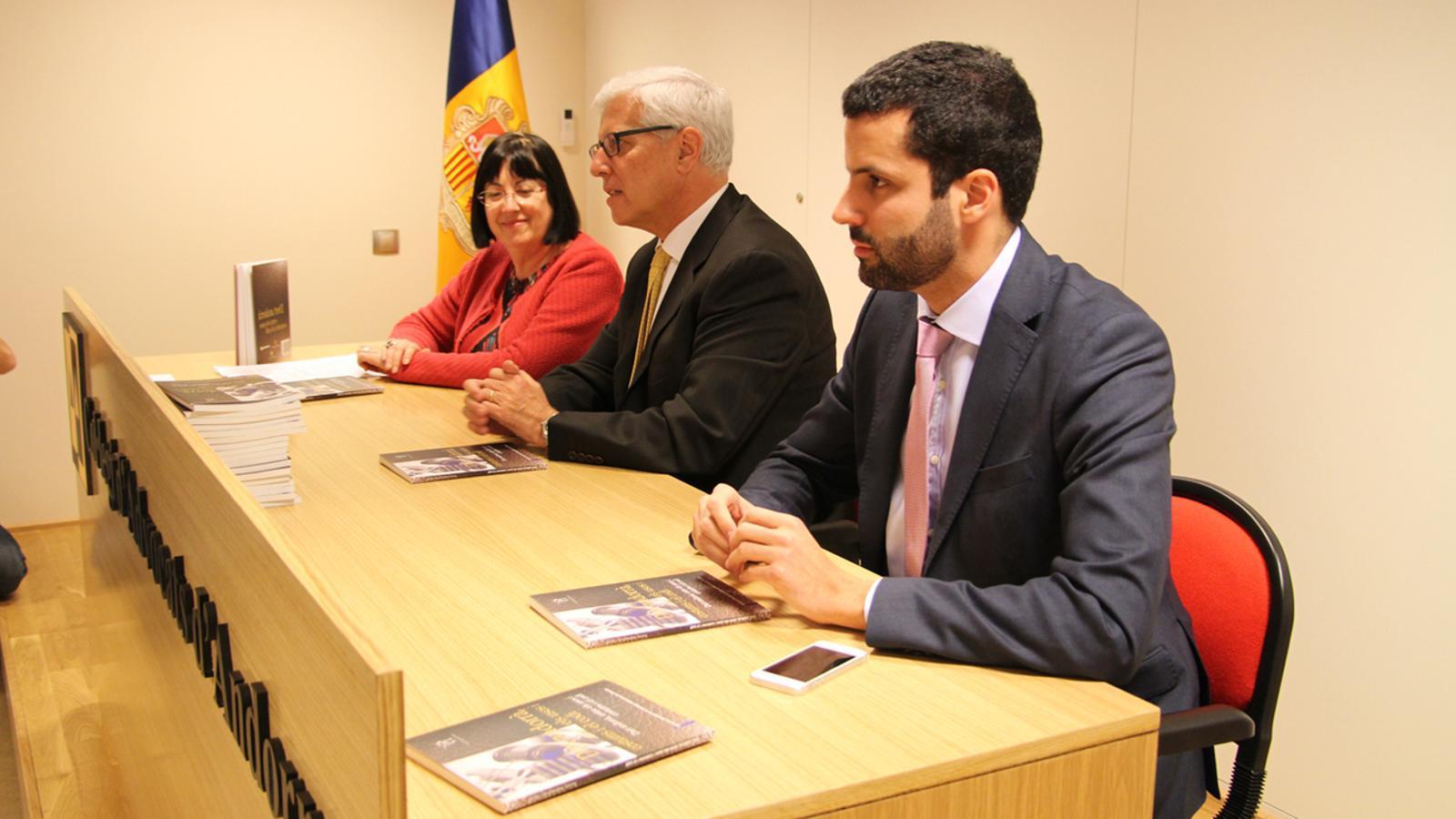 La presentació del llibre s'ha fet a la nova seu del Col·legi d'Advocats d'Andorra / G.LL.T.