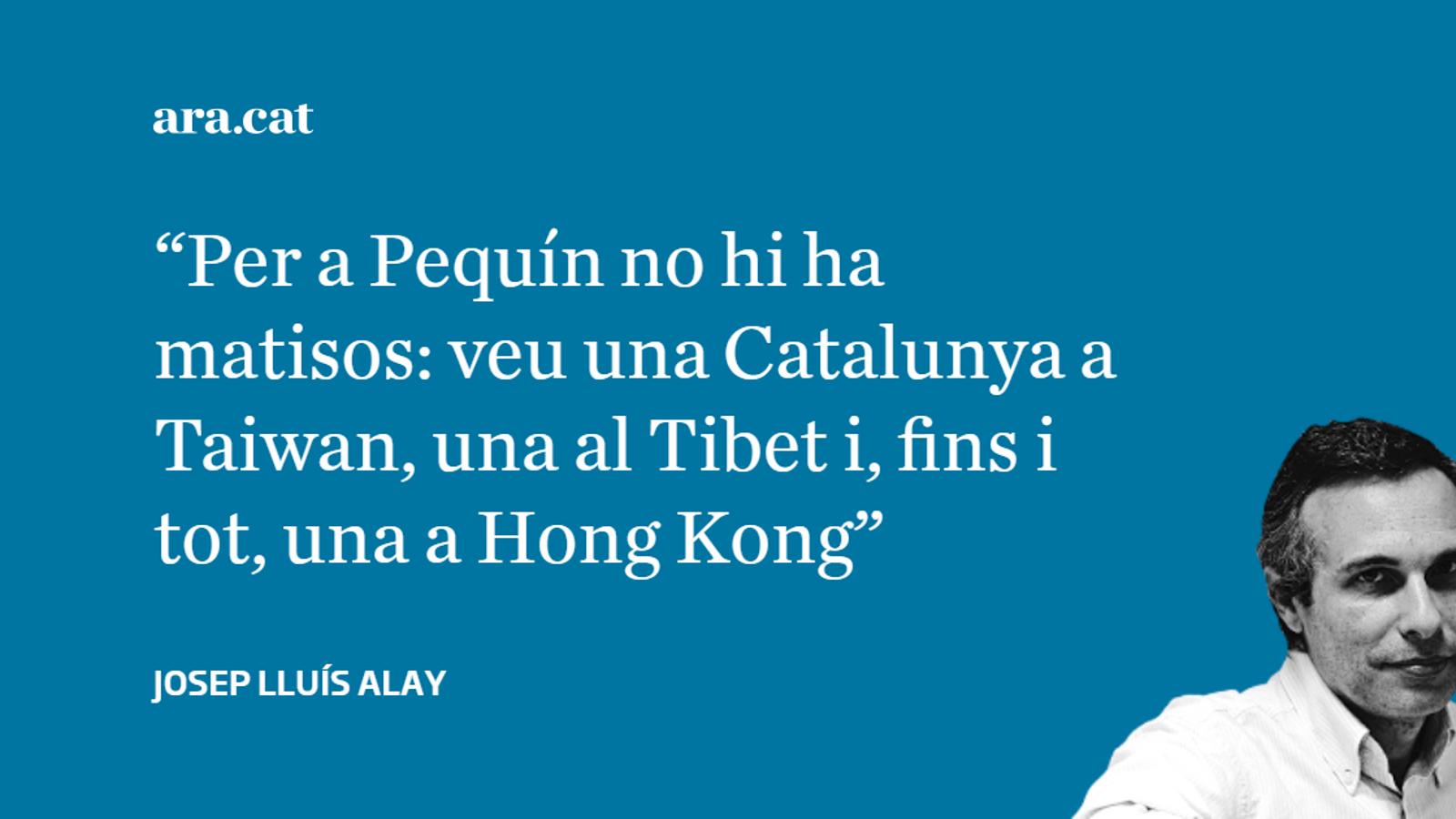 Taiwan i la Xina observen Catalunya