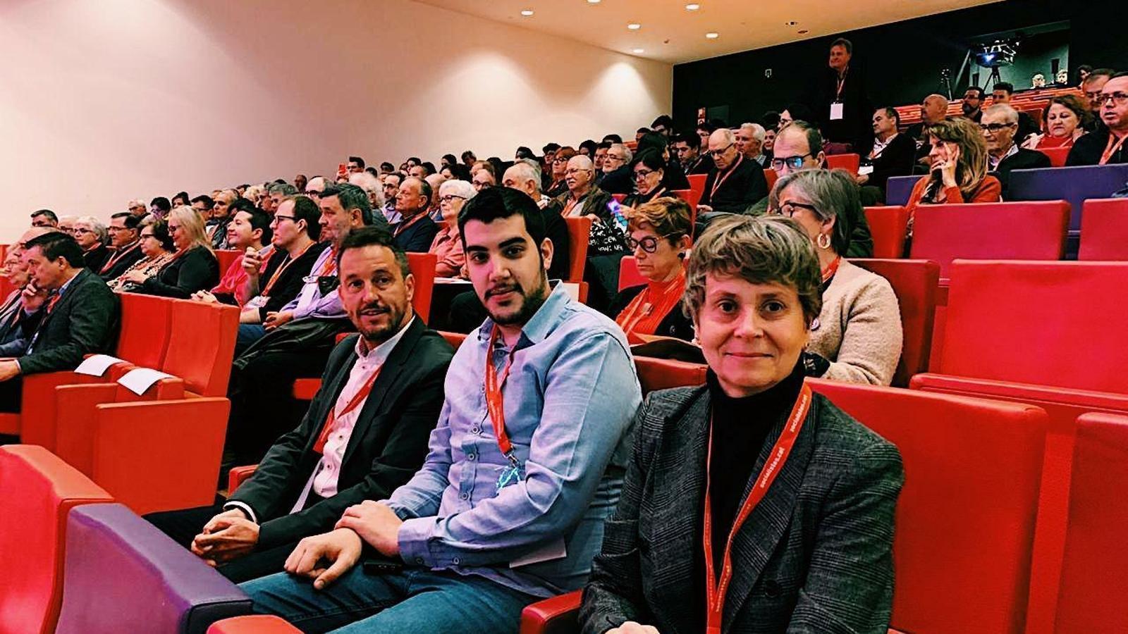 Vela, Baró i López, en el 10è Congrés del PSC de les comarques de Lleida, Pirineus i Ara. / PS
