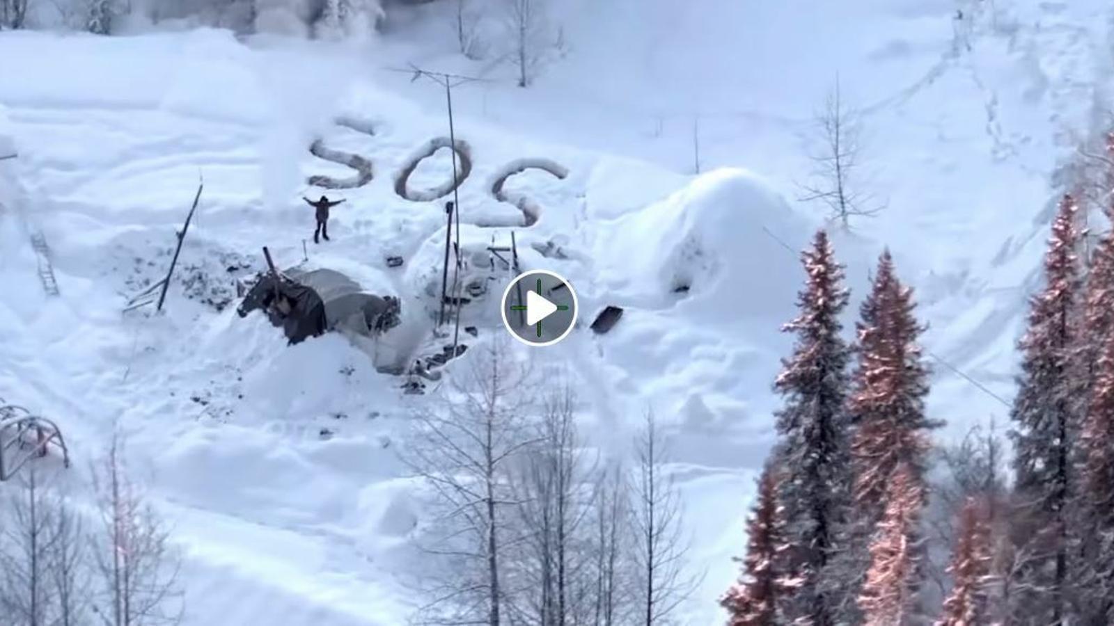 Vídeo del rescat de Tyson Steele, supervivent durant tres setmanes a Alaska