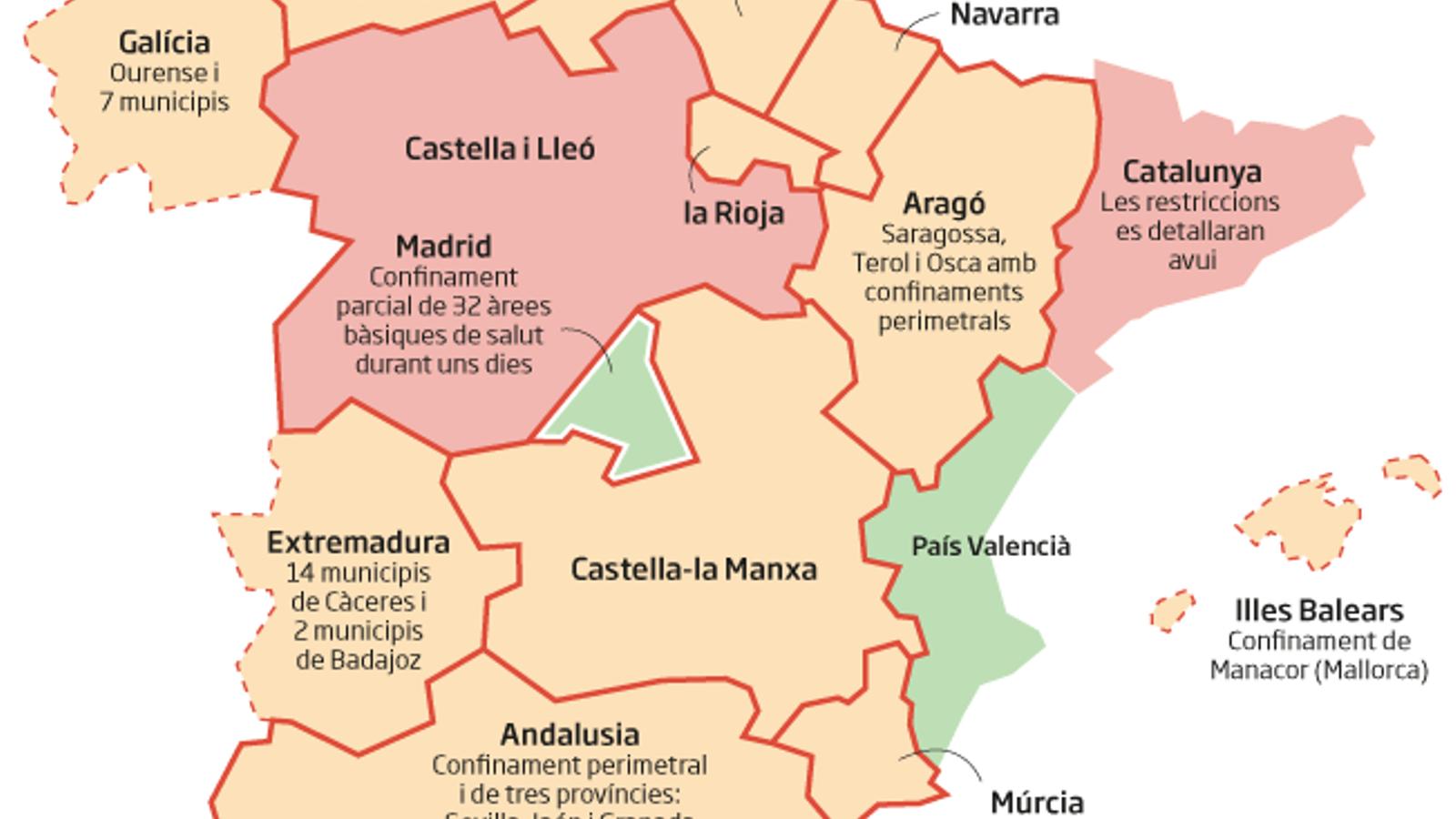 Les Castelles es blinden davant de Madrid i Ayuso demana poder declarar el confinament perimetral només aquest pont