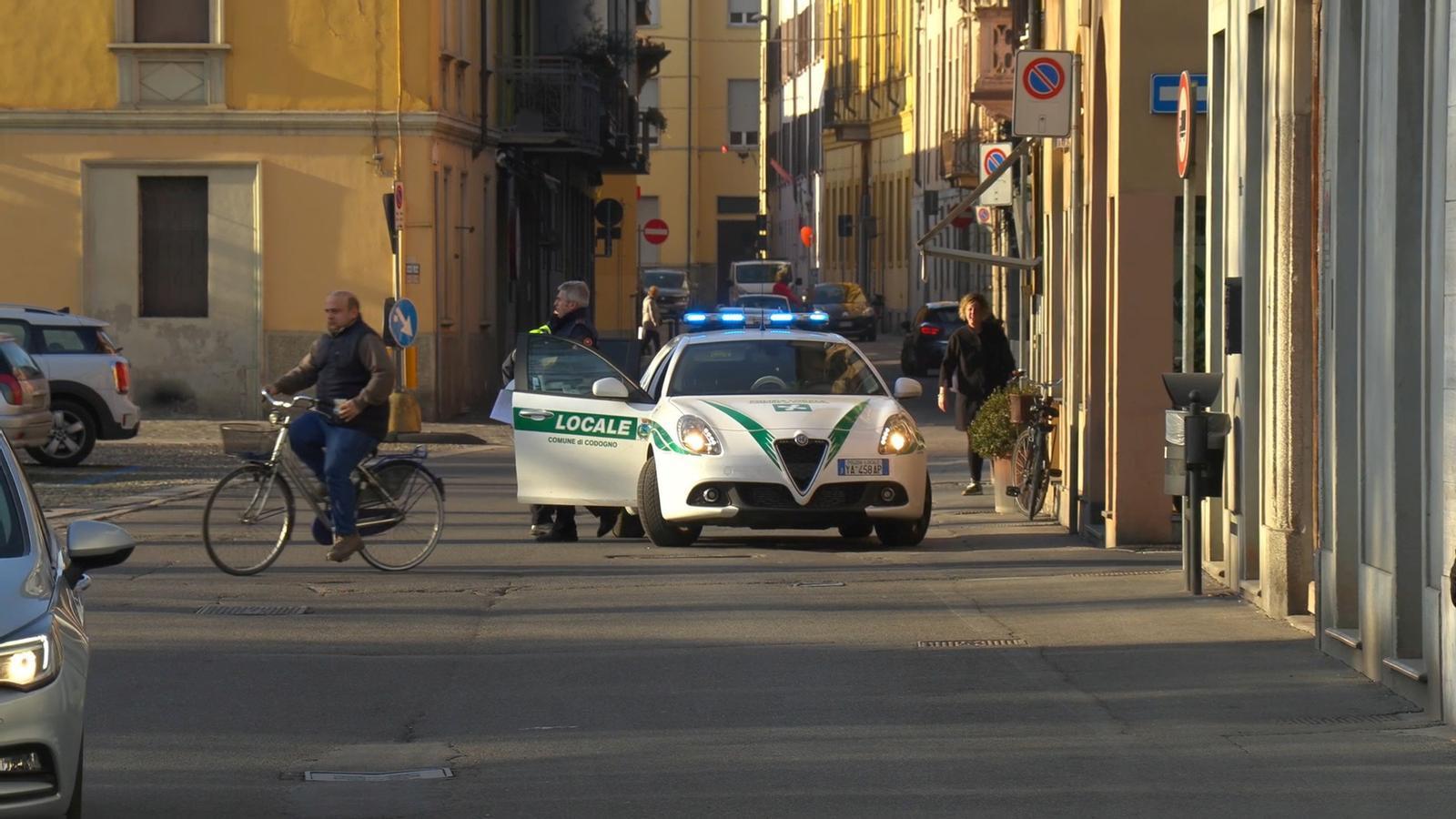 Un cotxe de policia a Codogno