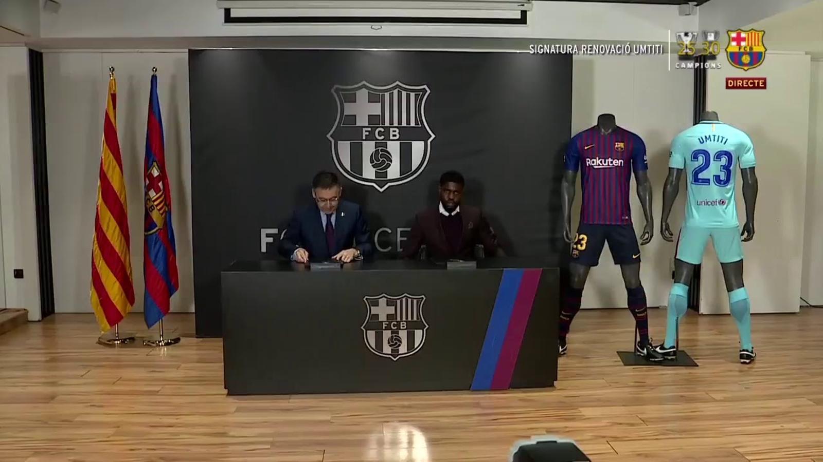 EN DIRECTE: Umtiti renova amb el Barça