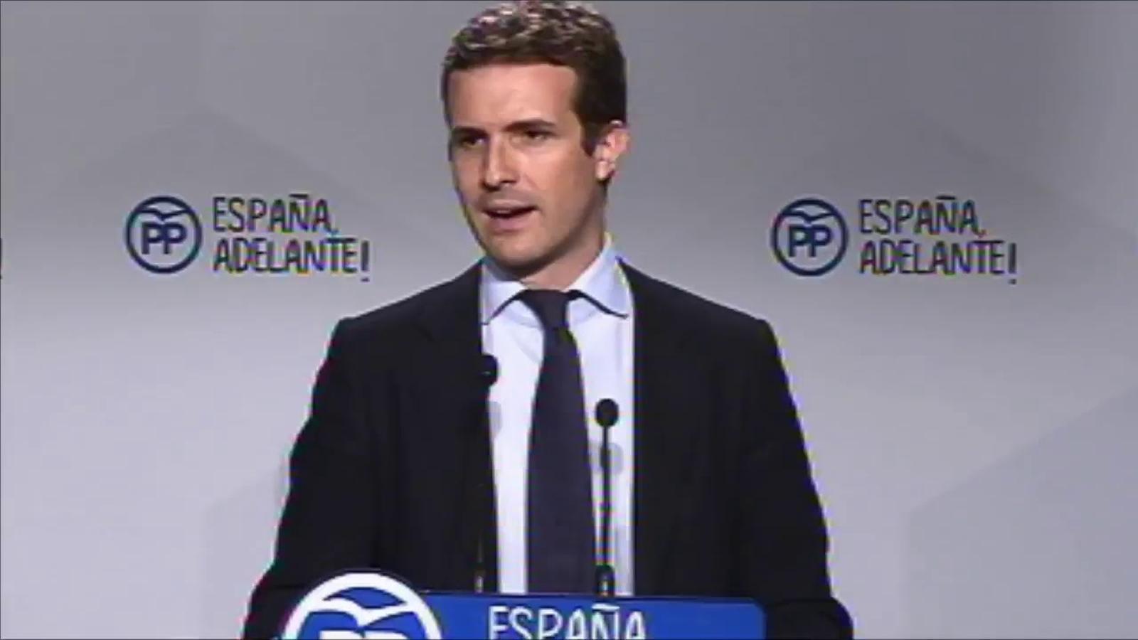 Roda de premsa de Pablo Casado