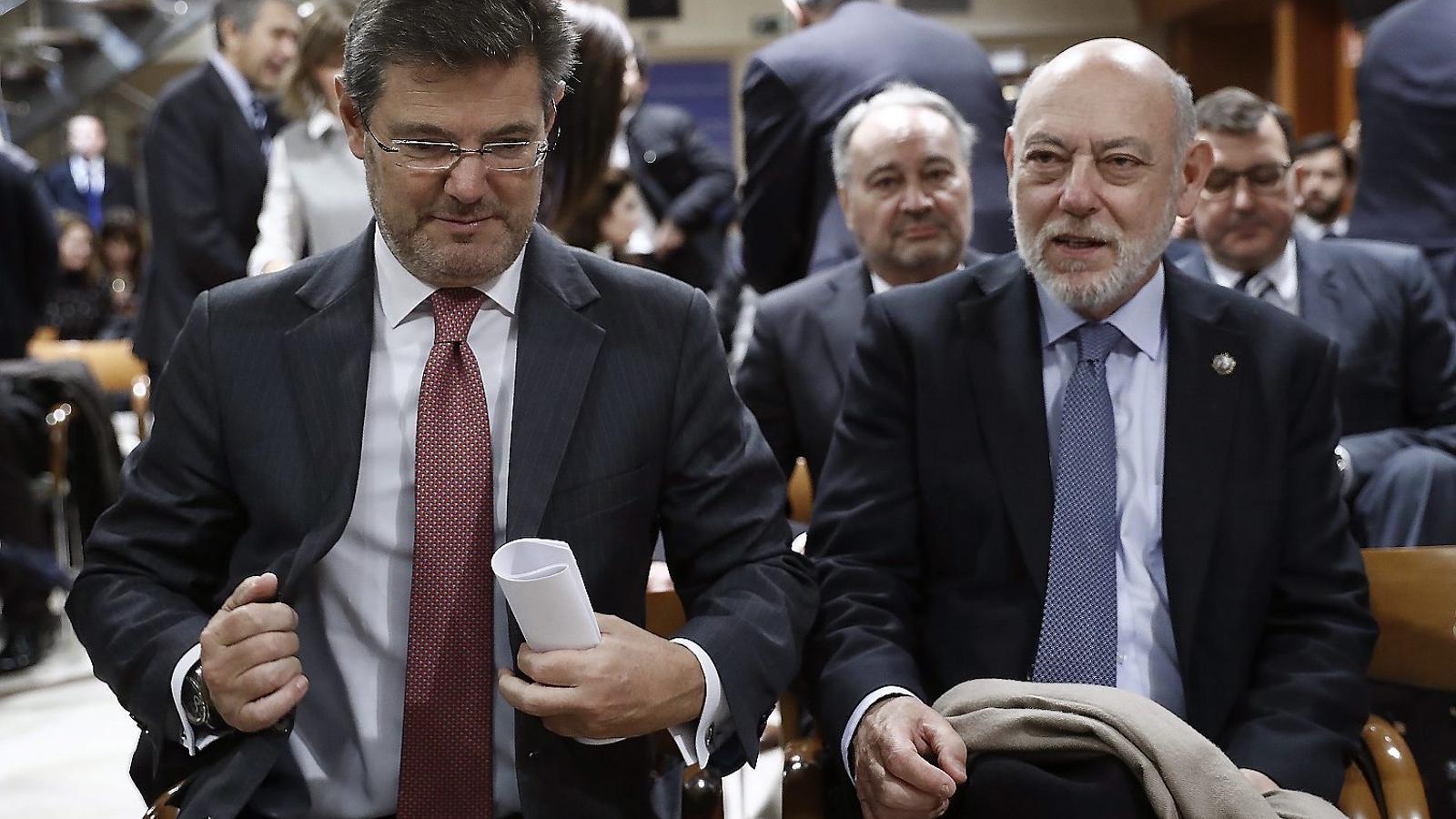 El fiscal general de l'Estat, el 7 de febrer, en una entrega de premis.