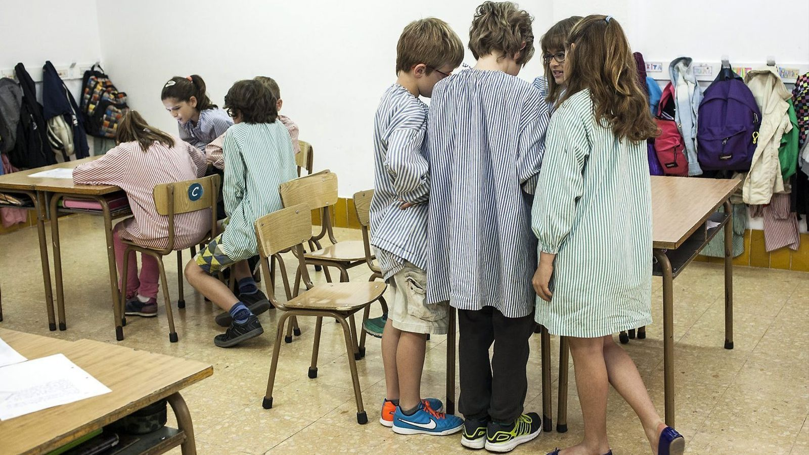 Alumnes del segon cicle de primària de l'Escola Sadako, que és un dels centres adherits al projecte.