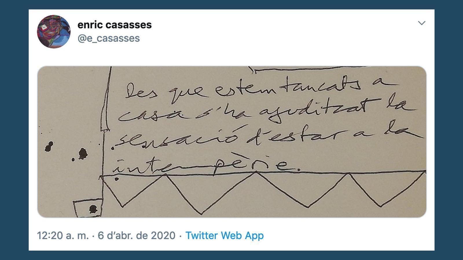 L'anàlisi d'Antoni Bassas: 'Tancats a casa però a la intempèrie (Casasses)'
