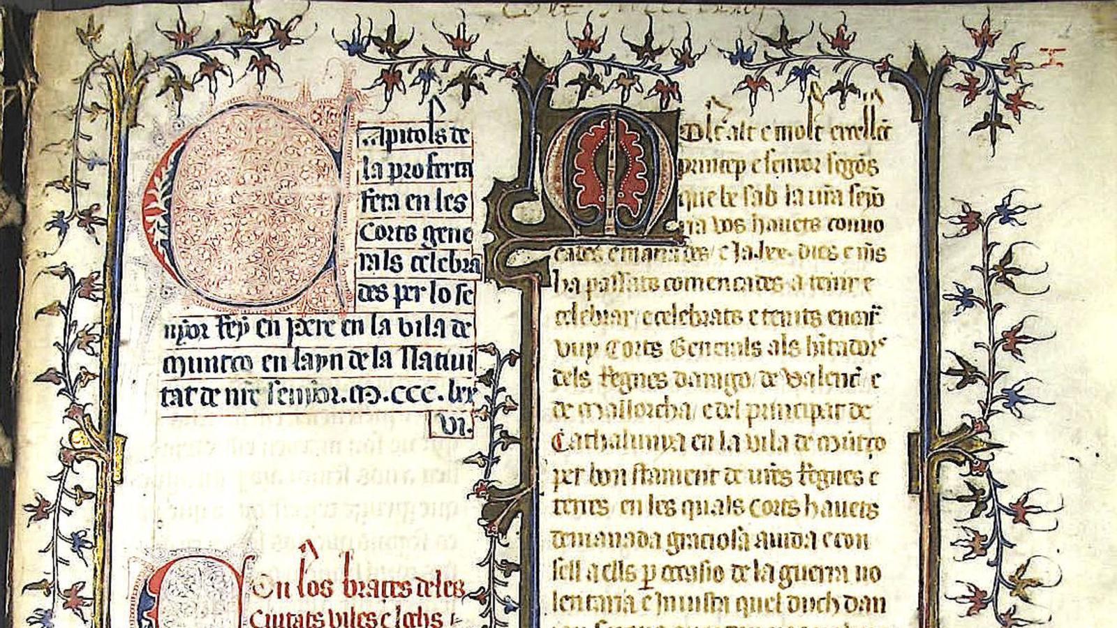 Una pàgina del manuscrit