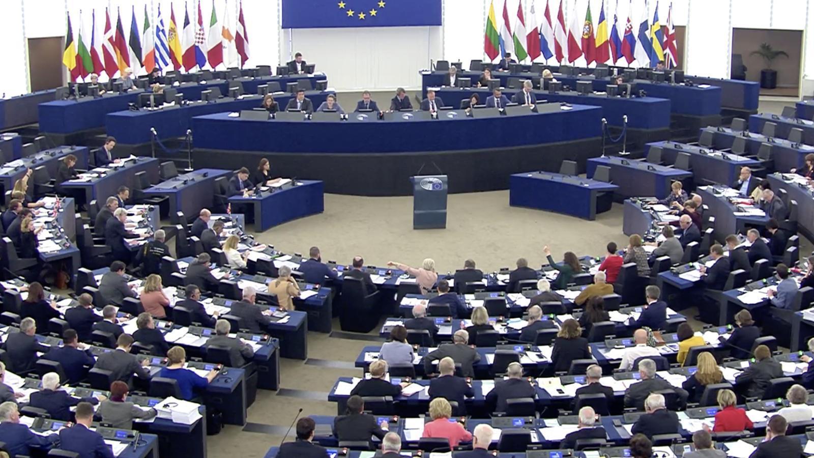 El Parlament Europeu durant la votació d'aquest dimecres. / Parlament Europeu