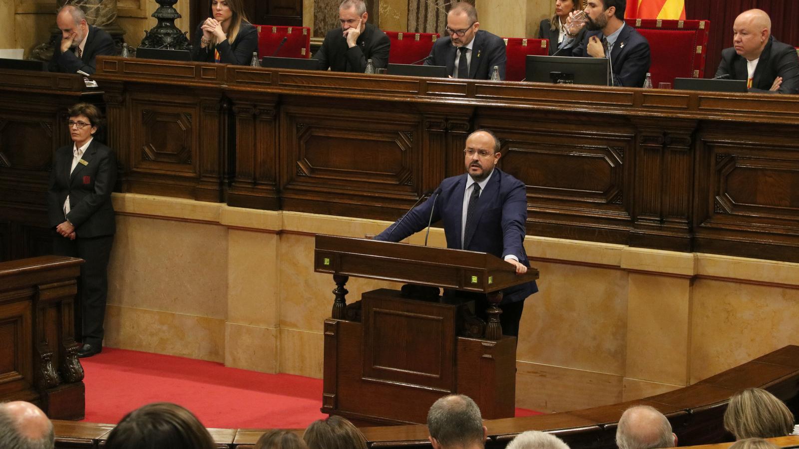 """Torra proposa tornar a """"exercir l'autodeterminació"""" en aquesta legislatura però ERC rebutja """"posar-hi dates"""""""