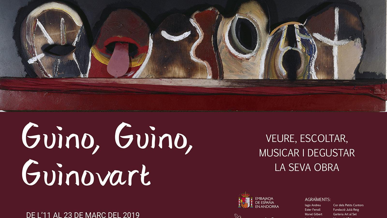 El fulletó que anuncia la mostra de Guinovart. / AMBAIXADA D'ESPANYA