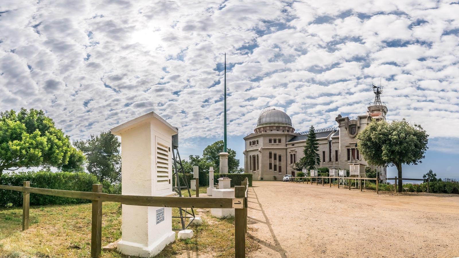 L'Observatori Fabra del Tibidabo en una imatge d'aquest matí