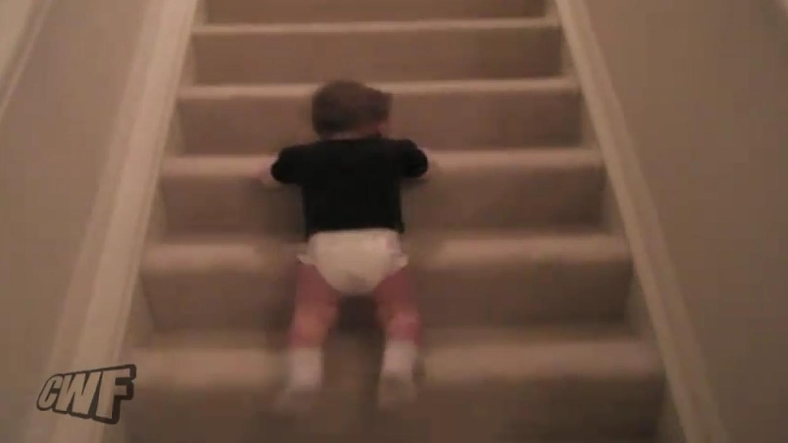 Qui diu que no sé baixar escales?