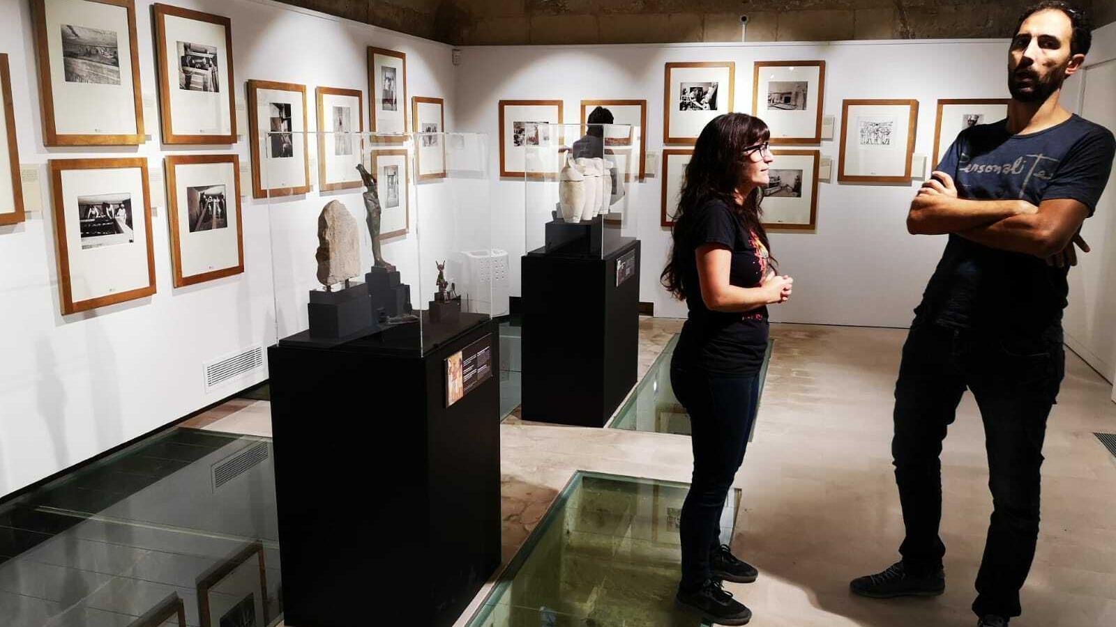 Els visitants han viatjat en el temps gràcies a les imatges del fotògraf oficial de l'excavació, Harry Burton.