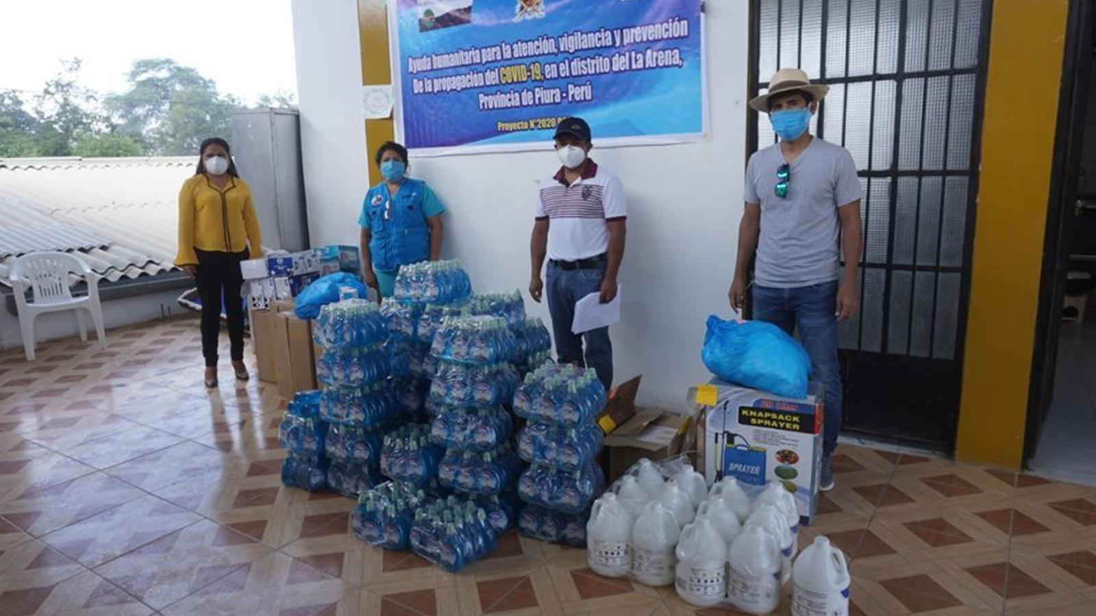 Part del material de protecció i prevenció que ha arribat a Perú