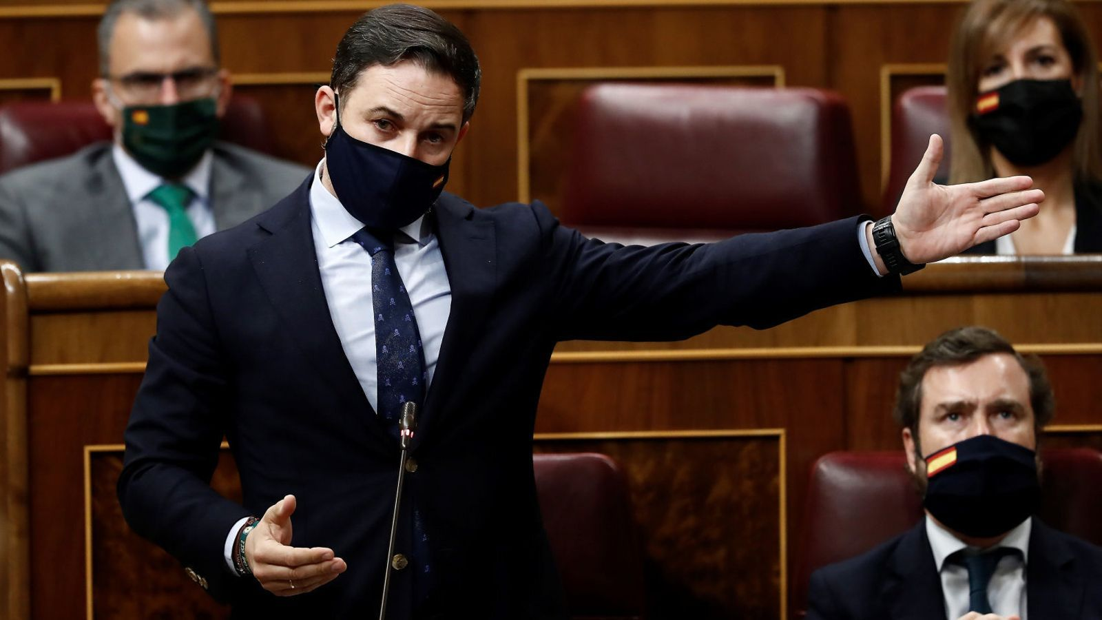 El president de Vox, Santiago Abascal, dimecres passat al Congrés.