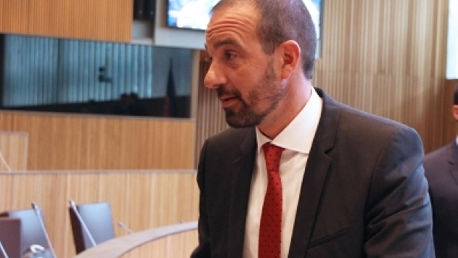 El ministre d'Ordenament Territorial, Jordi Torres. / M. T. (ANA)