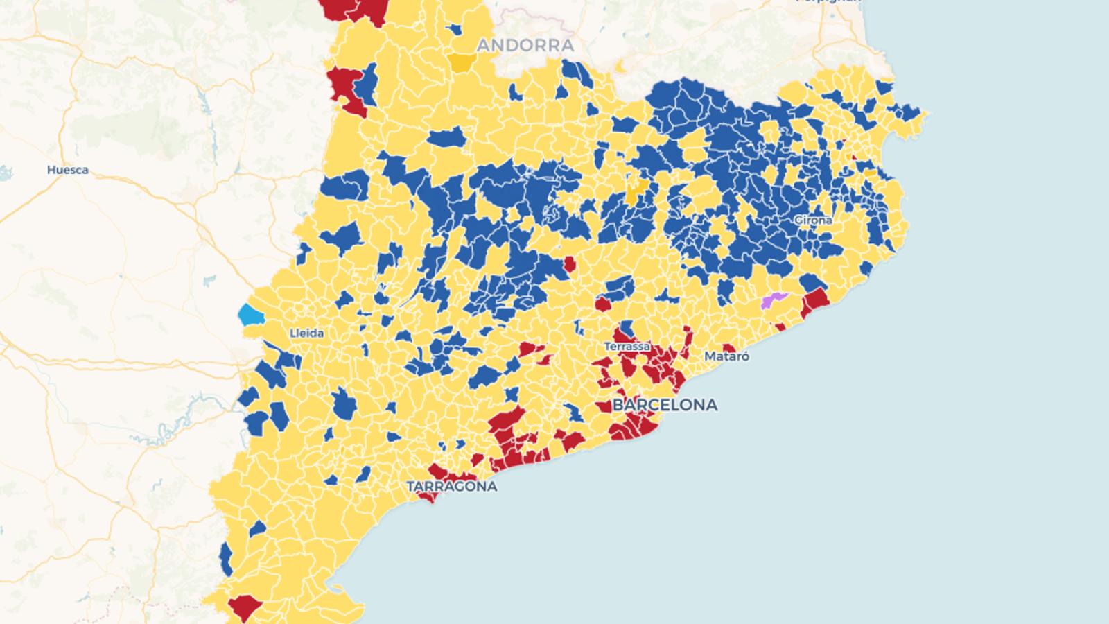 Mapes: els resultats a Catalunya, municipi a municipi