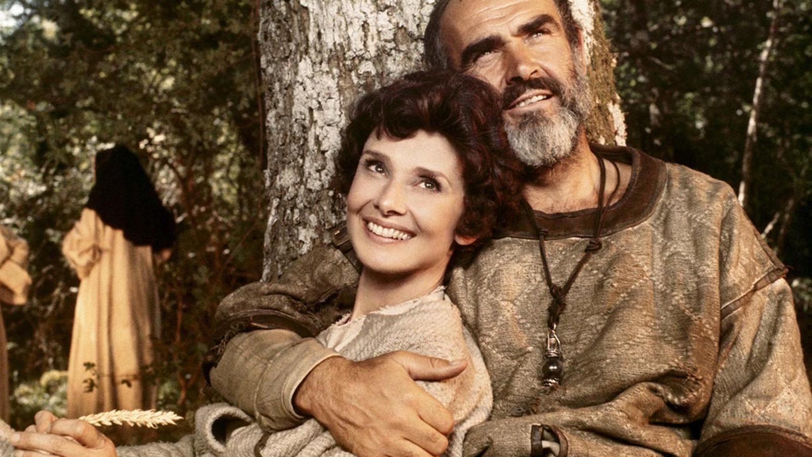 Audrey Hepburn i Sean Connery vestits per Yvonne Blake a 'Robin i Mariam'