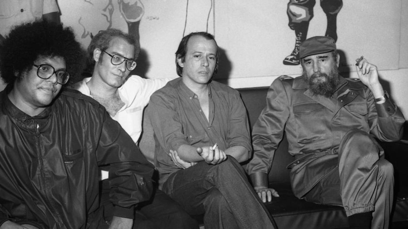 Pablo Milanés, Vicente Feliu, Silvio Rodríguez i Fidel Castro