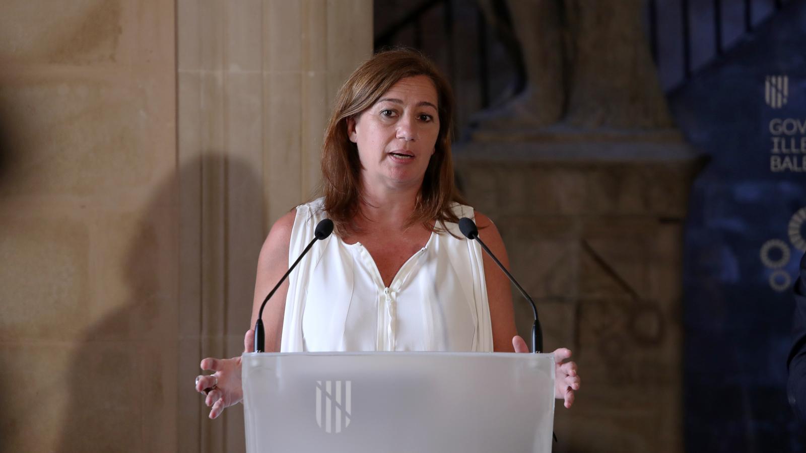 La presidenta del Govern, Francina Armengol, aquest dijous en el Consolat de Mar