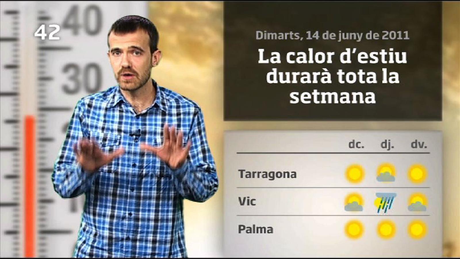La méteo en 1 minut: més estiu i menys xàfecs de tarda (14/06/2011)
