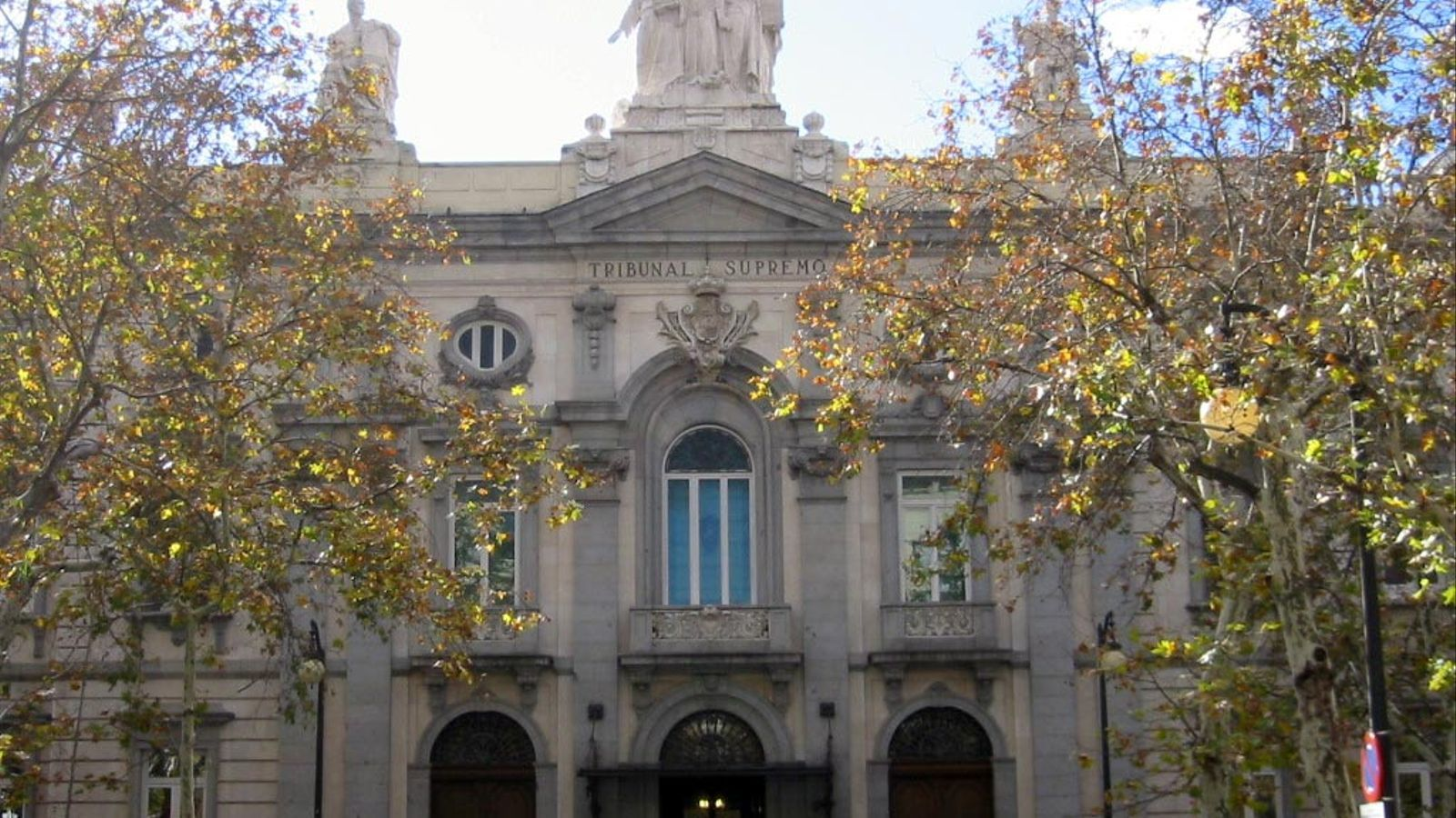 La façana del Tribunal Suprem, a Madrid.