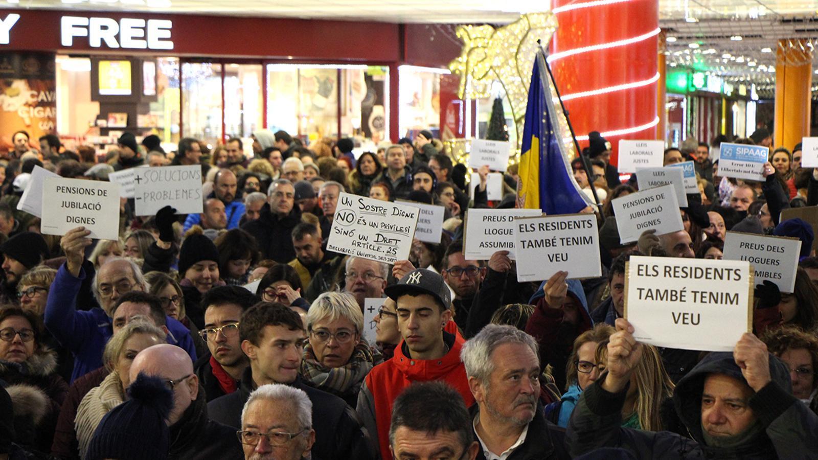 Un moment de la manifestació del passat desembre. / ARXIU ARA