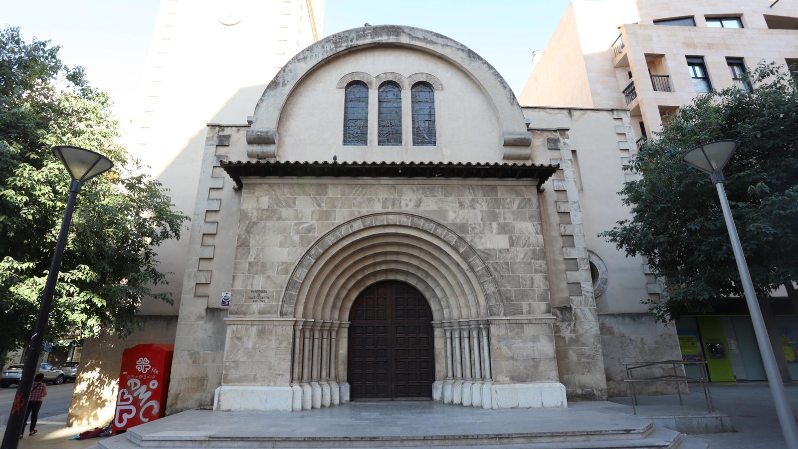 La parròquia de Sant Sebastià.